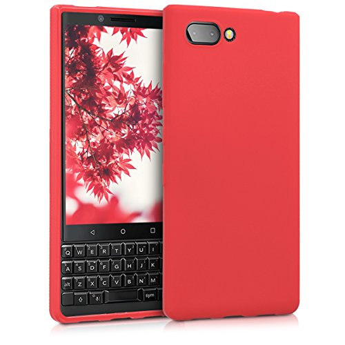 kwmobile Hülle kompatibel mit BlackBerry KEYtwo (Key2) - Hülle Silikon - Soft Handyhülle - Handy Hülle in Rot matt
