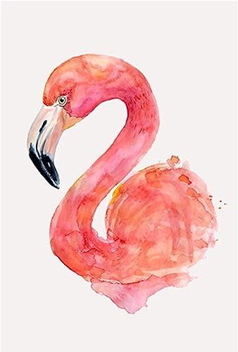 mejor opcion Puzzle House- Flamingo Flamingo Flamingo & Monstera, Pintura de Estilo nórdico de Morden, Rompecabezas de Madera, Cut & Fit, 500  5000 Piezas en Caja Ilustración Puzzles de Madera Juguetes Arte para Adultos -0  mejor reputación