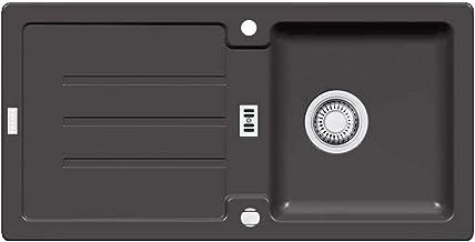 Franke Strata STG 614 grafietgranieten spoelbak (inbouw keukenspoelbak, natuursteen, hoekig) zwart 114.0259.825