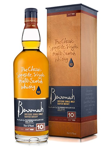 Benromach 10 Years Old 100° Proof mit Geschenkverpackung (1 x 0.7 l)