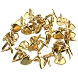 TO_GeT For Home Tools_TgT 40PCS/Set 9MM Colorful Heart Shaped Brass Paper Fasteners Pins Crafts Decor DIY Decoration Accessories Color Gold