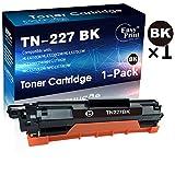 (1-Pack, Black) Compatible TN-227 TN227BK Toner Cartridge TN-227BK Used for Brother HL-L3210CW L3230CDW L3710CDW L3270CDW DPC-L3550CDW MFC-L3710CW L3750CDW L3770CDW Printer, Sold by EasyPrint