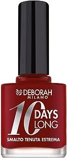 Deborah Milano 10 DAYS LONG - 161 DARK RED Nail Polish