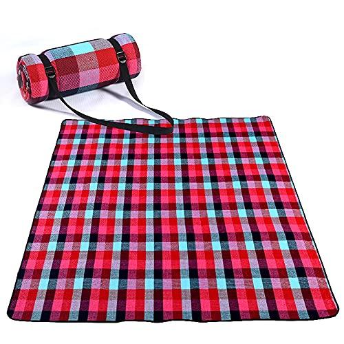 Picnic portátil Manta Impermeable Picnic y Playa Manta Matra Handy Mat Plus Plus Capas duales gruesas Estera de la alfombra al aire libre para el parque de camping de viaje al aire libre - Colores múl