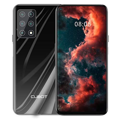 CUBOT X30 Smartphone ohne Vertrag, 6GB RAM/128GB, 6.4 Zoll HD Display, 4200mAh Akku, Android 10, 5-Kameras 48MP, Dual SIM, 4G Global Version, Schwarz
