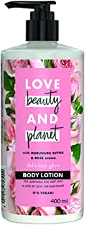 Love Beauty & Planet Delicious Glow Body Lotion with Murumuru Butter and Rose Aroma, 400 ml