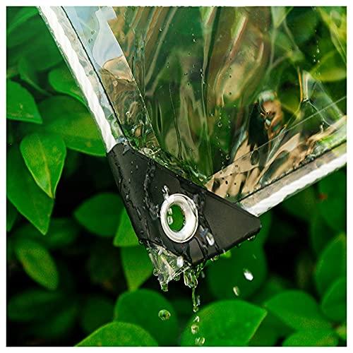 GZHENH Lonas Impermeables Exterior,Casa Balcón Anti-UV Impermeable Cortinas Al Aire Libre con Ojales Cubierta Vegetal Lona Transparente, Personalizable (Color : Claro, Size : 2x3m)