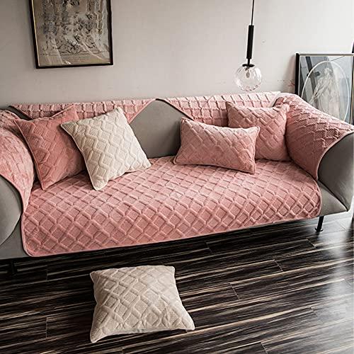 LJHYYY Sofá Slipcover,Impermeable Cubiertas Seccionales para El Couch Antideslizante Antimanchas,Universal Funda Sofa 3plazas para Perros Gatos Mascotas Niños,Navidad-Rosado 70x180cm(28x71inch) 1pcs