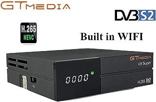 GTMEDIA V9 Full HD DVB-S2 Freesat Satellite Receiver H.265 Built-in WiFi TV Box Support PowerVu, DRE & Biss Key, DLNA, SAT to IP,Unicable,Satellite EPG