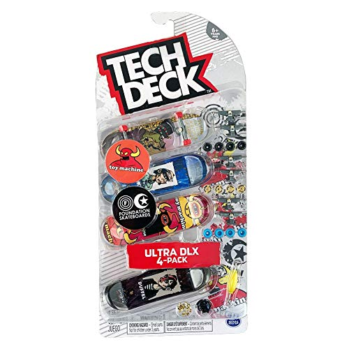 Tech-Deck Ultra DLX 4 Pack 96mm Fingerboards - 2019 Edition (Toy Machine Foundation)