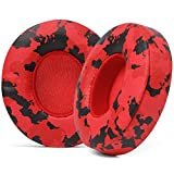 WC Extra Thick Replacement Earpads for Beats Solo 2 & 3 by Wicked Cushions - Ear Pads for Beats Solo 2 & 3 Wireless ON-Ear Headphones - Soft Leather, Luxury Memory Foam, Strong Adhesive | Red Camo