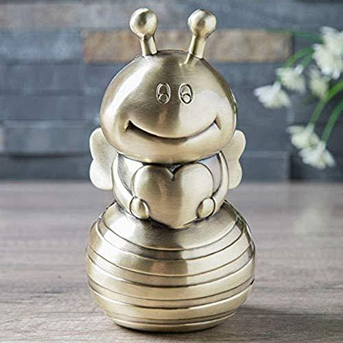 GUOSHUFANG Huchas de joyería, metal artesanal, regalo para niños, hucha creativa europea de alta gama, color dorado