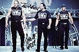 Fotodruck vom NWO Wrestling, mit vorgedrucktem Autogramm, limitierte Edition