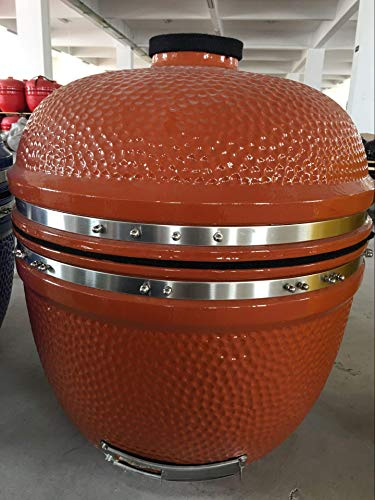 """YNNI KAMADO TQ0025BS Bespoke XL 25"""" Grill with Trolley and Bamboo Tables, Bespoke Colour, BBQ, Ceramic, Egg, Smoker, TQ0C25BS"""