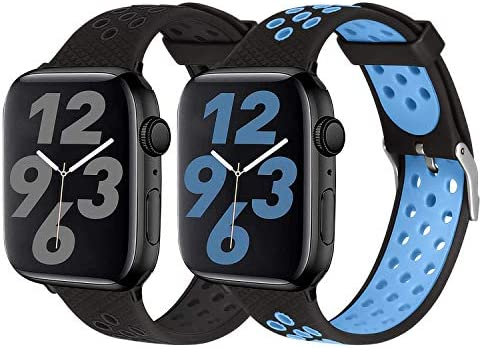 SKYLET Sport Bands Compatible with Apple Watch 42mm 44mm 38mm 40mm Soft Silicone Breathable product image