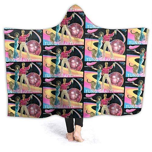 maichengxuan Manta con Capucha 3D Yung Gravy Tour Super Soft Sherpa Fleece Blanket 60'x50'