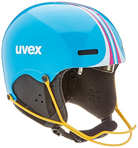 Uvex Kinder hlmt 5 junior Race Skihelm, Cyan-pink, 52-55