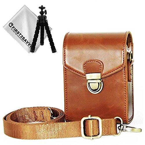 First2savvv Premium PU Leder Kameratasche für Panasonic Lumix DMC TZ200 TZ100 TZ110 TZ91 TZ90 TZ81 TZ80 ZT70 ZT71 TZ60 TZ61 - BDX21-TZ200-09