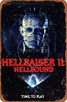 ヘルレイザーヘルバウンドウォールメタルポスターレトロプラーク警告ブリキサインヴィンテージ鉄絵画装飾レストランクラブオフィスのための面白いハンギングクラフト