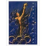 Salt Lake City, Utah, USA 2002 XIX Olympic Winter Games Official Ski Poster, Image Size 13 x 18 inches