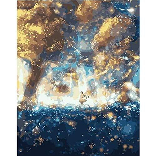YSNMM Schilderij Door Nummers Diy Mooie Storm Center Scenery Canvas Bruiloft Decoratie Art Picture Gift