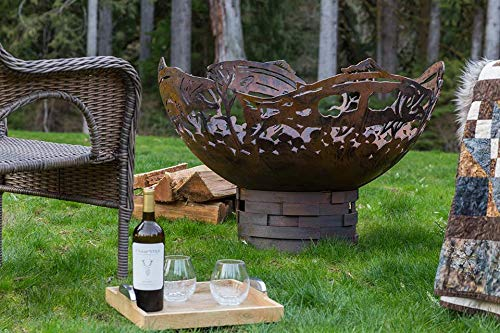 Check Out This Cedar Creek Sculptures Salmon Fire Pit - Unique, Natural Gas, Match Lit – The Perfe...