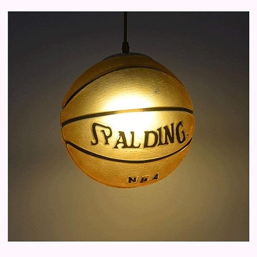 DUOMING Pendentif en Verre de Basket-Ball Lumières Creative Lustre Salon Chambre Restaurant Restaurant Lustre Minimaliste Moderne pour Enfants Luminaire De la personnalité