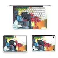 ノートパソコン HSH 3 In 1 MB-FB13(70)フルトップ保護フィルム+フルキーボードプロテクターフィルム+ボトムフィルムセット用MacBook Air 13.3インチA1466(2012-2017)/ A1369(2010-2012)、USバージョン