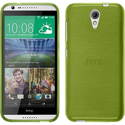 PhoneNatic Funda de Silicona Compatible con HTC Desire 620 - Brushed Verde...