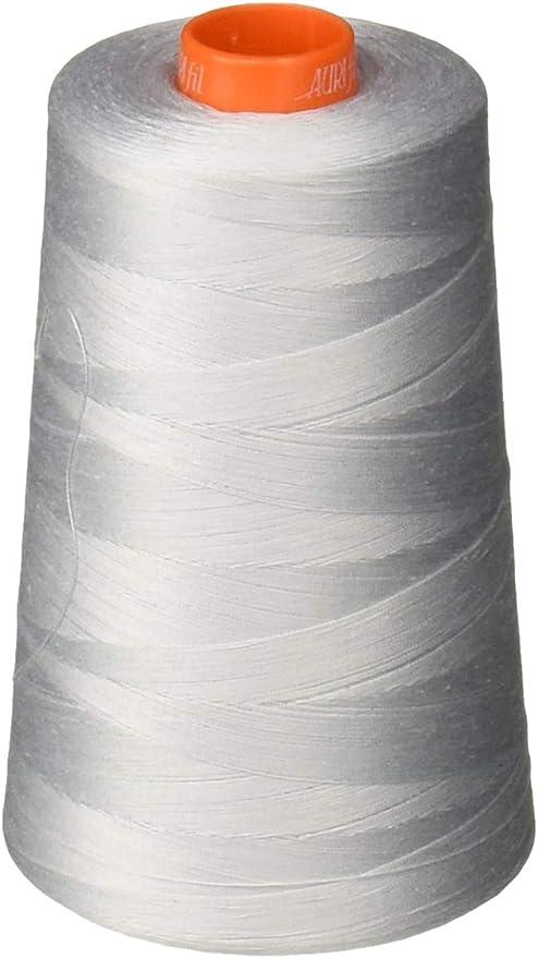 AURIFIL QUILT THREAD CONE 6452 yards #5021 Light Grey 50 WT