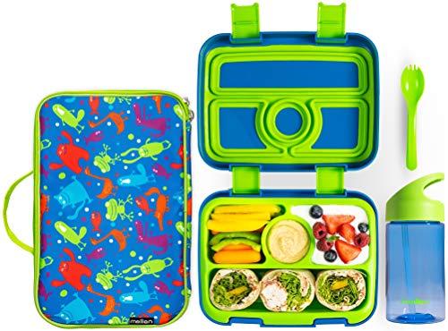 Meillen Kids Bento Lunch Box, Insulated Cooler Bag &...