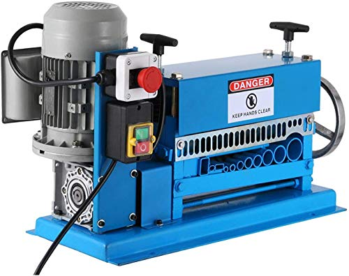 Mophorn 220V Machine à Dénuder les Fils Electriques Machine de Dépouillement de Câbles Electriques Multi-Trous(HXSMS-038)