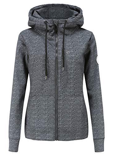 TrendiMax Damen Sweatjacke Kapuzenpullover Zip Hoodie Kapuzenjacke Winter Sweatshirt Jacke
