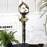 YAMMY Casa de pájaros Casa de pájaros de Madera Caja de pájaros Creativa Casita de pájaros de jardín Nido de pájaro Casa de árbol de Madera Maciza Retro Arreglos Florales (pájaro)