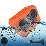 Chronos Floaty Case with Extra Long Aluminum Thumbscrew and Tether Kit, Extremely Buoyant, Surf Float, Floatie, Floating Case for DJI Osmo Action