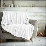 Hachete - Manta con diseño de piqué suave y cálida, para sofá, cama o viajes