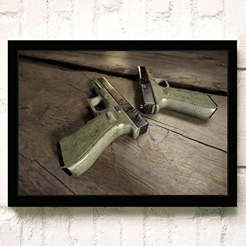 Heißes Online-Spiel PUBG 3D Fps Shoot Battlefield Überleben HD-Poster Spielrolle Waffe Home Decor Wohnzimmer Leinwand Malerei 30 * 40cm