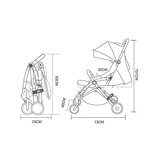 JXCC Baby Stroller, Convertible Baby Carriage, Infant Pram Stroller with Cup Holder and 5-Point Safety System -Safe And Stylish Blue JXCC 1. Can be used out of the box, no need to install, small, easy to carry, boarding, such as the size of a backpack. 2. Backboard design, with three large pieces of hard board support, moderate hardness. 3. Can sit, can move, small bed, suitable for 0-3 years old baby. 2