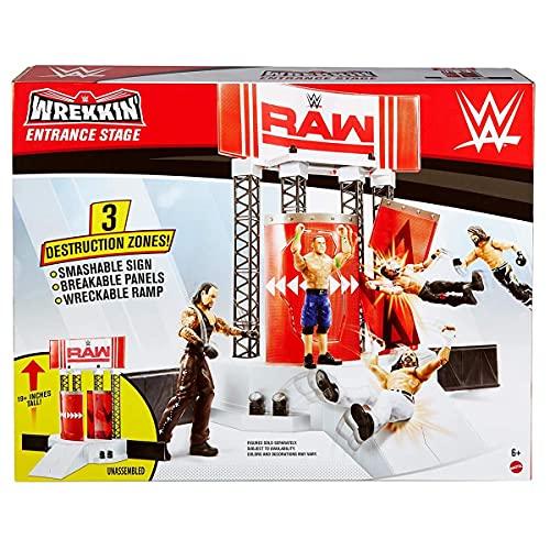 WWE - Escenario Wrekking Entrance para Figuras de Acción (Mattel GNB54)