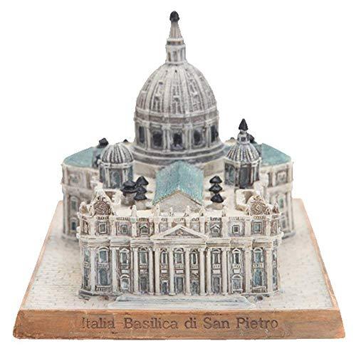 GRX-ART Modelo ArquitectóNico De Estatuilla, Hito ArquitectóNico Modelo Ornamento, BasíLica De San Pedro, Vaticano, Escultura, Recuerdo TuríStico