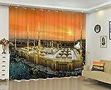Cortinas Opacas De Térmica Aislante Adecuado para Balcon Salón Habitación Dormitorio-Arabia Saudita Al Anochecer-Cortinas De Reducción De Ruido Modernos Navidad Fiesta Cortinas-280X245Cm