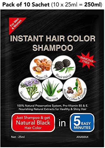 ANAMAX Hair Colour Shampoo 10 Sachet (10 x 25ml = 250ml)