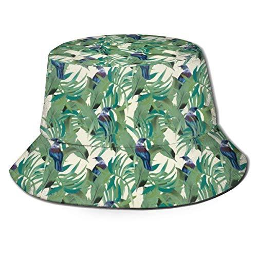 Trushop Unisex Bucket Hat Fisherman Hat Cap Tui Palm Repeat for Men Women