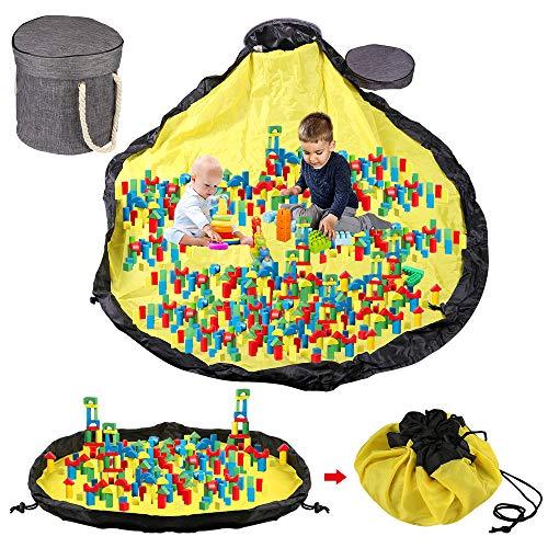 Sylanda Spielzeugsack, Aufbewahrungstasche XL, Taschen-Organizer, Spielzeugteppich für Kinder, Aufräumsack für Spielzeug, Großes 150*150cm - Schnellere Aufräumung