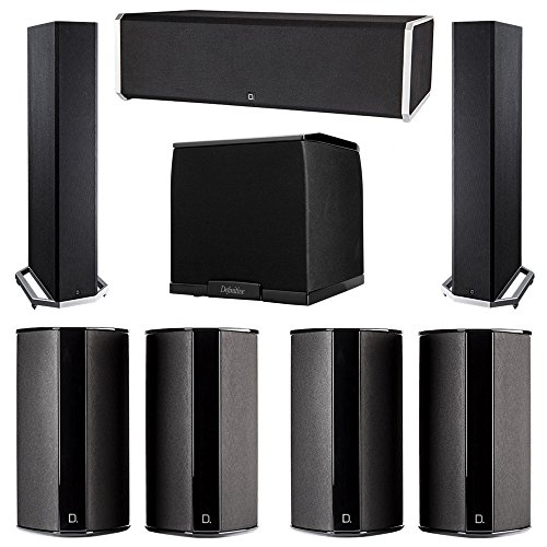 New Definitive Technology 7.1 System with 2 BP9020 Tower Speakers, 1 CS9080 Center Channel Speaker, ...