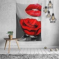 タペストリー 壁掛け 部屋 赤い唇 個性ギフト 新居祝い 多機能 部屋飾り おしゃれ インテリア モダンなアート 130cm x 150cm