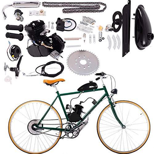 26' or 28' 80cc Bike Bicycle Motorized 2 Stroke Petrol Cycle Motor Engine Kit Set Engine Bike Motor Kit (Black) (Black)