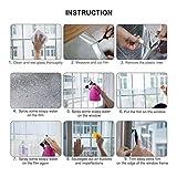 Fitlife Sonnenschutz Fensterfolie Selbsthaftend für Sonnenschutz Fenster Außen und Innen, Sonnenschutzfolie für Schlafzimmer UV-Schutz 90 x 400cm - 5