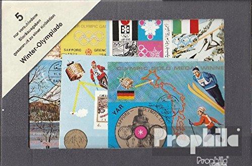 Prophila Collection Motivazioni 5 Diversi Giochi Olimpici Invernali Blocchi (Francobolli per i Collezionisti) Sport Invernali