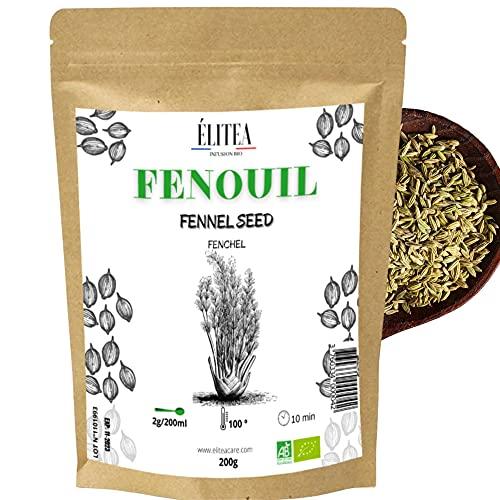 ÉLITEA - 200g de Fenouil Bio - graine - Aide à la digestion et favorise la lactation allaitement- sachet kraft biodégradable